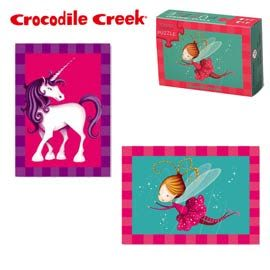 《美國Crocodile Creek》火柴盒雙面拼圖系列-小仙女(24片)