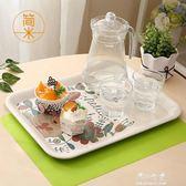 餐盤家用動物托盤長方形北歐創意客廳水杯茶盤塑料歐式水果盤餐盤YYS 伊莎公主
