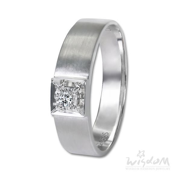 威世登 賺進四方鑽石戒指-男戒 婚戒推薦 情人節禮物 DA03841-BEHXX