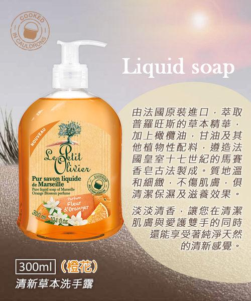 【法國小橄欖樹】清新草本洗手露-橙花(300ml)