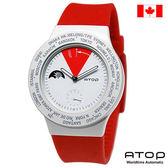 ATOP 世界時區腕錶|24時區國旗系列 - VWA-Canada 加拿大