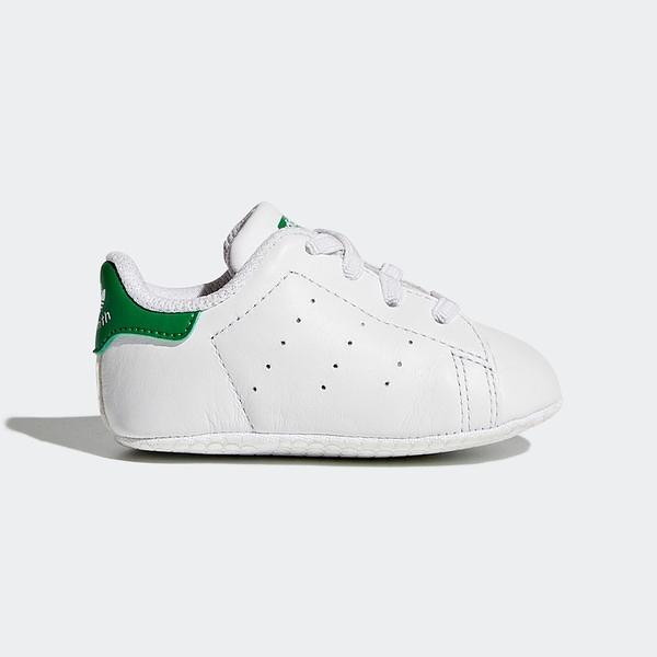 Adidas Stan Smith Crib [B24101] 小童鞋 運動 休閒 柔軟 易穿脫 保護 愛迪達 白 綠