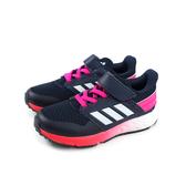 adidas FortaFaito EL K 運動鞋 跑鞋 魔鬼氈 深藍 桃紅底 童鞋 G27382 no748