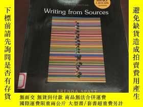 二手書博民逛書店Writing罕見from Sources (seventh e