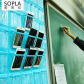 手機掛牆收納袋班級教室插卡布袋子透明掛袋牆掛式襪子存放整理袋沸點奇跡