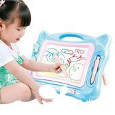 支架式畫板兒童磁性寫字板寶寶彩色磁力涂鴉板黑板1-3歲2幼兒玩具