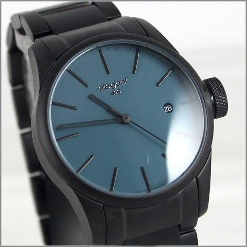 【萬年鐘錶】elegant 經典 時尚對錶 (霧黑) ELJT41-VU12MA