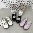 小皮鞋女秋款鞋百搭軟妹厚底魔術貼Lolita娃娃大頭鞋 洛小仙女鞋