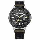 Superdry極度乾燥  軍綠街頭潮流運動腕錶-SYG245BN