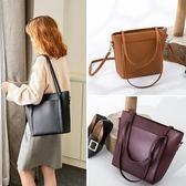 包包新品單肩包韓版簡約大容量手提包女大包斜跨百搭托特包潮