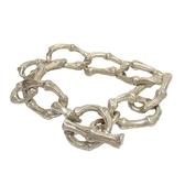 Tiffany & Co 蒂芬妮 925純銀竹節造型手鍊 Bamboo bracelet 【BRAND OFF】