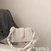 小方包 腋下包女包包2021新款潮網紅小方包小眾設計包百搭ins側背斜背包 曼慕