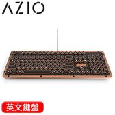 AZIO RETRO CLASSIC ARTISAN 小牛皮復古打字機鍵盤 Typelit軸 英文