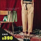 URES ★限時搶購390★花苞腰皮帶雙口袋長褲 TOMO購物清單 【121013407】