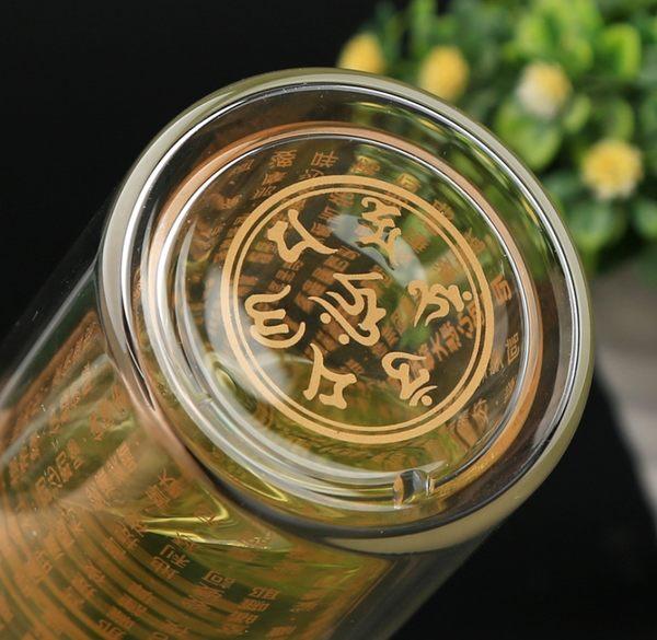 滿額免運【ZA190216】現貨 大悲咒雙層水杯 304不鏽鋼茶濾 寬口 台灣繁體金字 茶杯