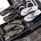 男士沙灘拖鞋男夏季人字拖情侶時尚潮外穿海邊個性涼拖防滑室外限時八九折