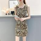 吊帶洋裝 豹紋連身裙女2021年新款夏季背帶裙子氣質緊身顯瘦吊帶包臀裙性感 小天使