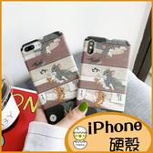 湯姆與傑利動畫殼iPhone11手機殼 iPhoneXR Xsmax保護套 iPhone8Plus磨砂硬殼 iPhone7 6s Plus防摔保護殼