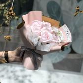 維多禮物 香皂花束ins皂花七夕禮盒送女友老師 情人走心節創意畢業禮物花束 DF 維多