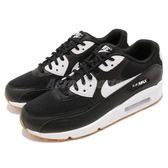 Nike 休閒鞋 Wmns Air Max 90 黑 白 皮革鞋面 膠底 氣墊 運動鞋 女鞋 男鞋【PUMP306】 325213-055