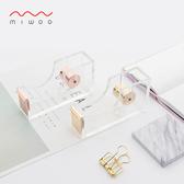 創意簡約小膠帶底座玫瑰金撕膠帶切割器膠帶底座膠帶機