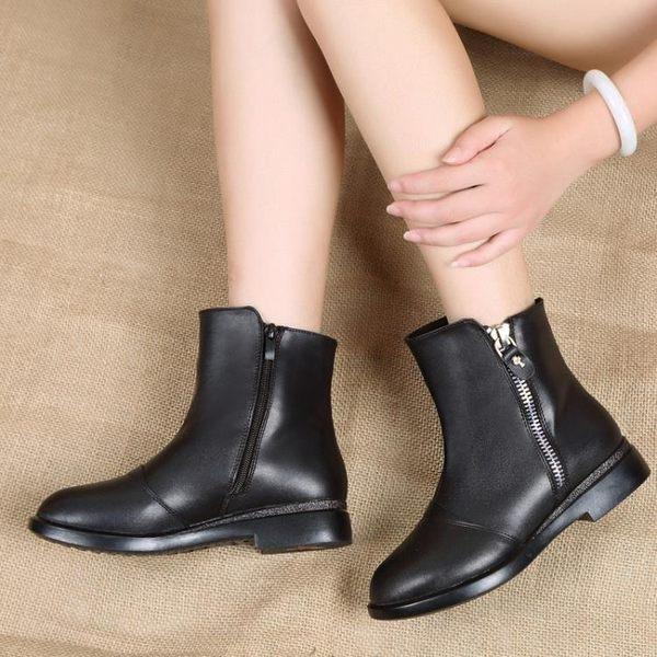 復古切爾西靴 側拉鏈真皮短靴 馬丁靴《小師妹》sm330
