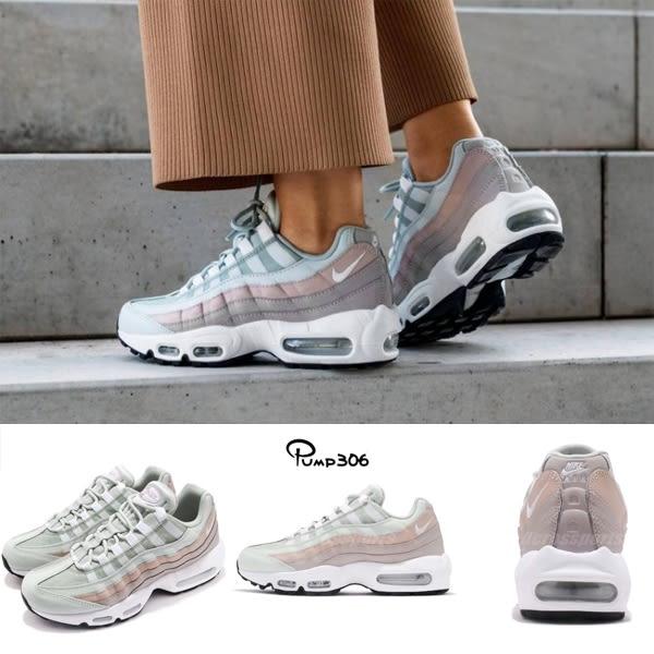 new product 9ca73 30f19 Nike Wmns Air Max 95 灰白粉色反光女鞋復古慢跑鞋運動鞋