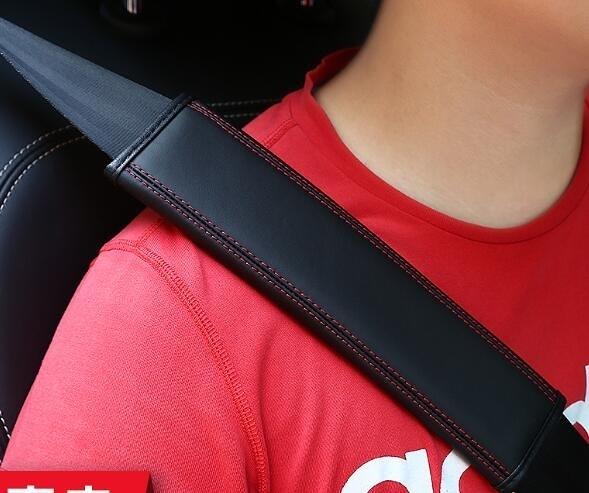 汽車安全帶護肩套保險帶套真皮一對加長