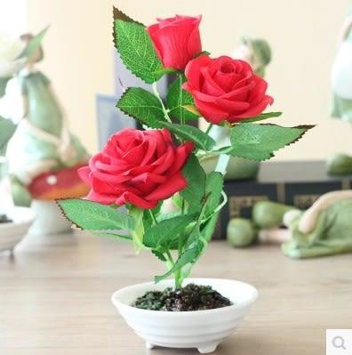 [協貿國際]假玫瑰花盆栽套裝單個價