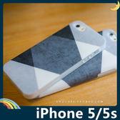 iPhone 5/5s/SE 黑白灰撞色保護套 軟/PC硬殼 黑白格調 時尚簡約 矽膠套 手機套 手機殼 背殼 外殼