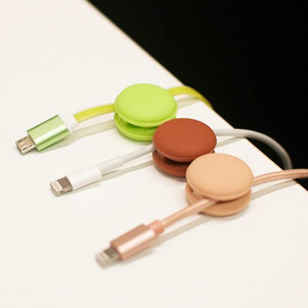 【SZ12】三件套 韓國 馬卡龍 繽紛彩色 繞線器 耳機 數據線 充電線 集線器 理線器 時尚 顏色隨機