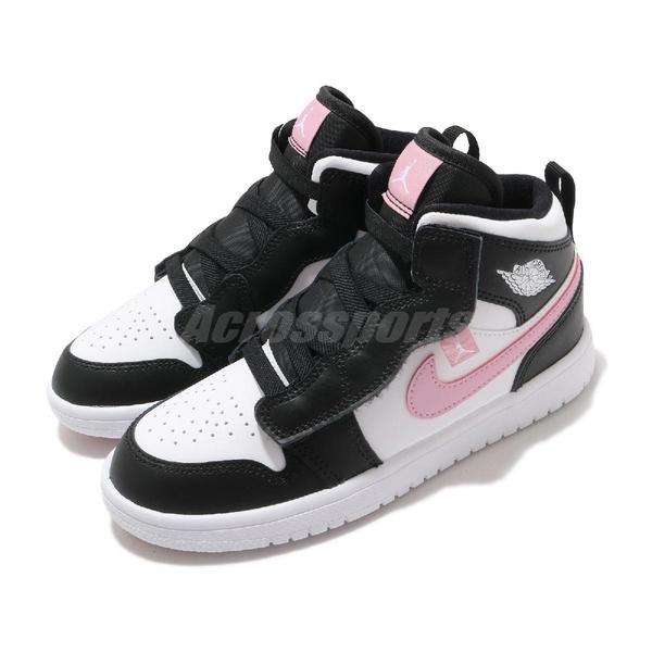 Nike 休閒鞋 Jordan 1 Mid ALT PS 黑 粉紅 童鞋 中童鞋 AJ1 運動鞋 【ACS】 AT4612-103