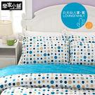床包 / 雙人【日光仙人掌-藍】含兩件枕...