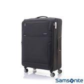 Samsonite新秀麗 24吋Stingray多功能收納可擴充布面TSA海關鎖行李箱(黑)