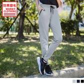 《KS0467》台灣製造~腰鬆緊抗UV保暖磨毛縮口運動長褲 OrangeBear
