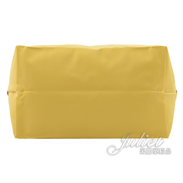 茱麗葉精品【全新現貨】Longchamp Le Pliage 折疊短肩揹帶手提包.香蕉黃 小 #1621
