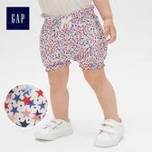 Gap女嬰兒 布萊納小熊刺繡波點鬆緊腰燈籠短褲 441316-彩色星星