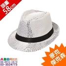 A0561_麥克傑克森帽_亮片爵士帽#面...