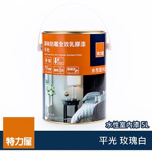 (組)特力屋淨味防霉全效乳膠漆玫瑰白5L-2罐