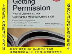 二手書博民逛書店Getting罕見Permission how to License & Clear Copyrighted Ma