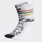 J-adidas x FIORUCCI 男女 印花 羅紋 時尚 舒適 中筒襪 2雙一組 休閒 透氣 FL9637