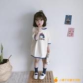 女童純棉寬松版T恤1歲女寶寶短袖連衣裙可愛拼接上衣女孩薄款夏裝【小橘子】