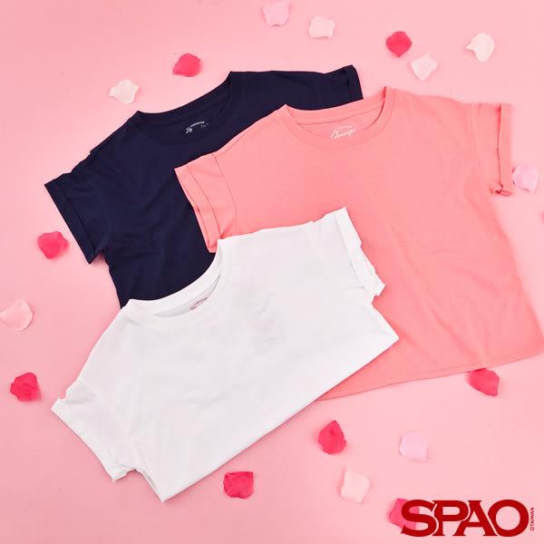SPAO女款素面舒適短袖T恤-共3色
