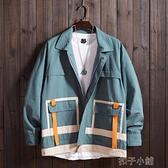 早春新品開衫棒球服夾克個性口袋情侶BF男女復古工裝襯衫外套 【年終盛惠】