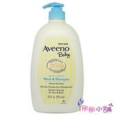 【彤彤小舖】Aveeno 燕麥寶寶溫和洗髮沐浴乳 33oz / 976ml 壓頭家庭號 微香 原裝包裝
