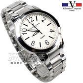 valentino coupeau 范倫鐵諾 都會風格數字錶 不鏽鋼 男錶/中性錶/學生錶 白色 數字錶 石英錶 V61269白