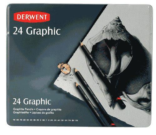 DERWENT 達爾文設計製圖鉛筆,綜合鐵盒24支*34202