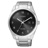 CITIZEN 時尚風格光動能腕錶/黑面/BM7320-87E