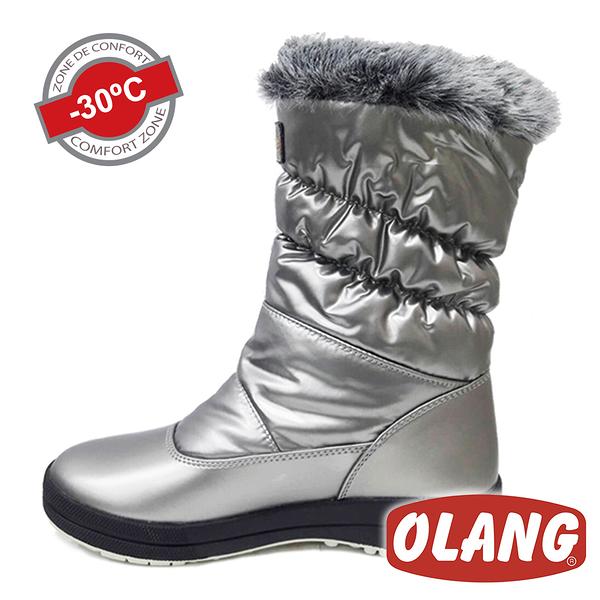 【義大利 OLANG】ROY OLANTEX 女 防水雪靴 OL-1703W 銀色【適用 -30°雪地 / 內厚鋪毛 / 防滑鞋底】
