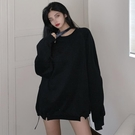 限時特價 秋季新款韓版抽繩長袖衛衣女寬松顯瘦日系溫柔風上衣